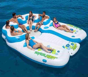 New 2017 7-persons Tahiti Floating Island