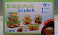 New Snapware: Glasslock 18pc Set ~ Now Oven Safe