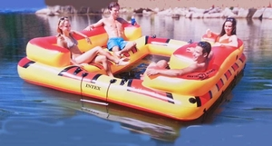 Oasis inflatable floating island
