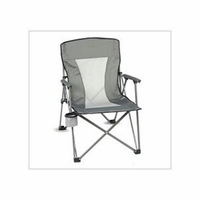 oversized Arm Chair with Mesh Back and Carry Bag Holds 300 LBS - Silver