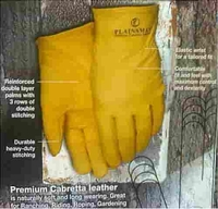 Plainsman Leather Gloves - 2 pairs