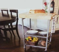 Portable Folding Kitchen Island Cart