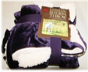 Purple Ultimate Sherpa Throw Blanket