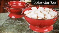 Red - Lorena 3 pc Colander set