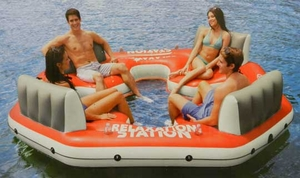 Relaxation Station - 4 Person Private Island by Intex