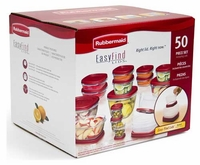 Rubbermaid Easy Find Lids Food Storage - 50 pc Set