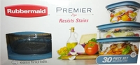 Rubbermaid Premier - 30 PCs Set Resists Stains Incl. Easy Find Lids -