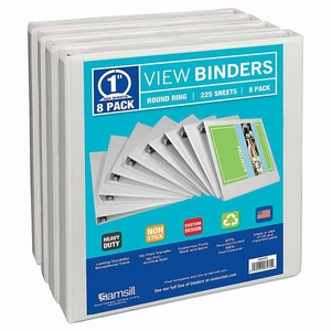 "Samsill storage binder - 1"" - 8 pk."
