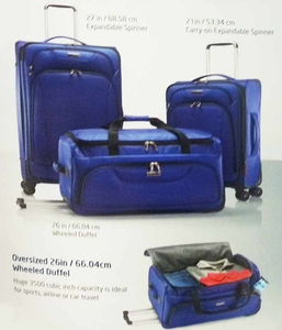 Samsonite 3 Piece luggage set in Blue or Black