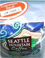 Seattle Mountain Colombian Decaf Coffee Beans 2.5lbs