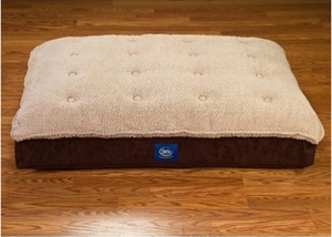 serta pillow top pet bed - Brown