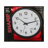 "Sharp 13.75"" Quartz Round Wall Clock"