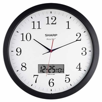 "Sharp 14"" Accu-Set Round Wall Clock"
