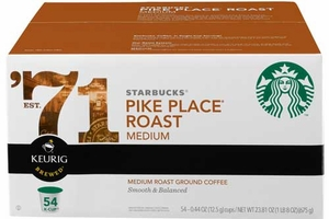 Starbucks Pike Place K-Cups - 54 count