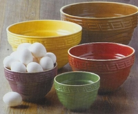 Stoneware Set Multi Colored 5 Piece Set