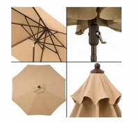 Sunbrella Fabric 10' Market Umbrella is made with