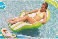The Green or Blue Inflatable Swimming pool Lounger