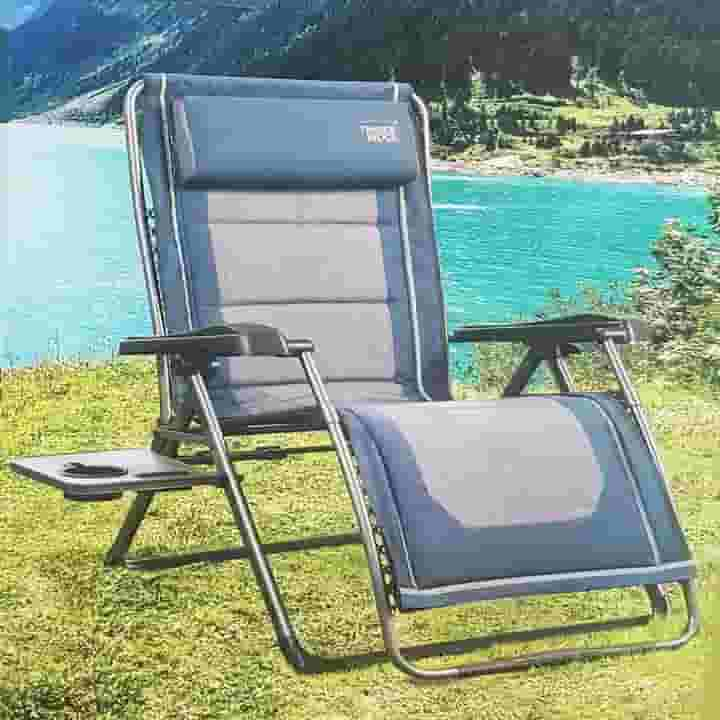 Timber Ridge Zero Gravity Blue and Gray Chair Lounger & Timber Ridge Zero-Gravity Chair - Get Ultimate Relaxation