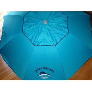 Tommy Bahama 7 Ft Beach Umbrella with Sand Anchor and Tilt SPF 100 - B
