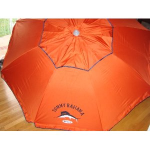 Tommy Bahama 7 Ft Beach Umbrella with Sand Anchor and Tilt SPF 100 - D