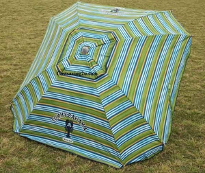 Tommy bahama 7 ft sand anchor beach umbrella - Square Shape