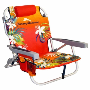 tommy bahama backpack cooler chair - floral