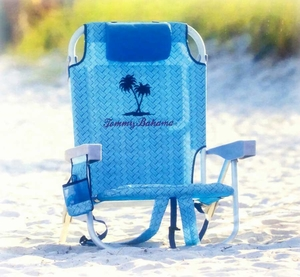 Tommy Bahama Backpack Cooler Chair - lite blue