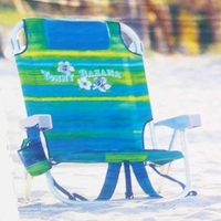 Tommy Bahama Backpack Cooler Chair with Storage Pouch and Towel Bar 30