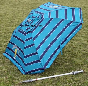 Tommy bahama beach umbrella 7 ft Blue stripes - Square Shape