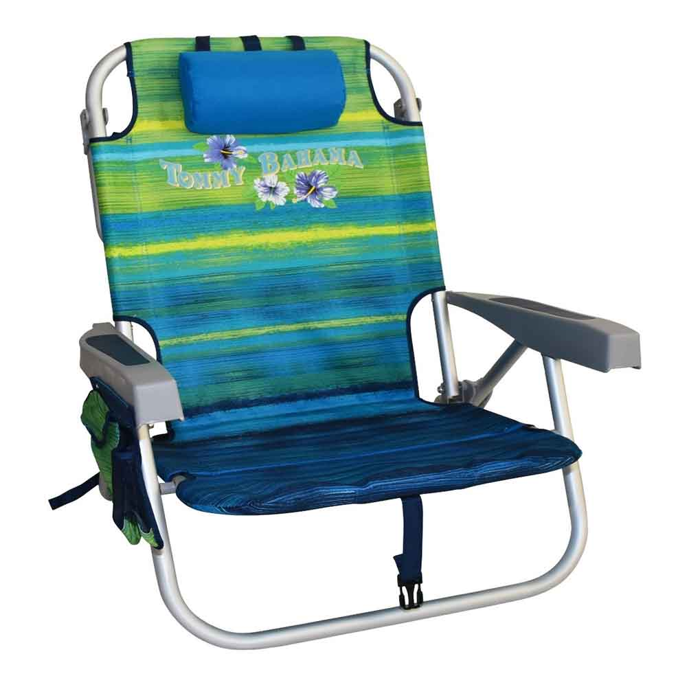 Tommy Bahama Folding Beach Chair Green Stripes