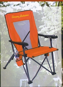 Tommy Bahama Reclining Folding Beach And Camping Chair - Red