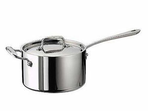 Tramontina 4-qt. Tri-ply Clad Covered Sauce Pan
