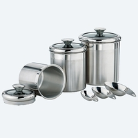 Tramontina Covered Canister Set with Measuring Scoops
