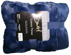 Ultra Plush Luxury Throw Blanket - Blue Color