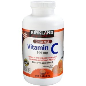 Vitamin C 500 mg, tangy orange, Chewable tablets, 500-Count Tablets