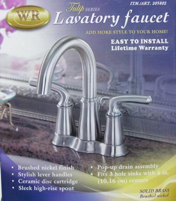 Waterridge Lavatory Faucet Brushed Nickel