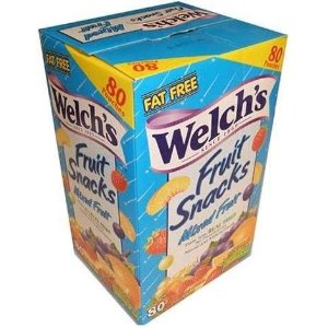 Welch's Mixed Fruit Snacks 80 Pouch Value Box