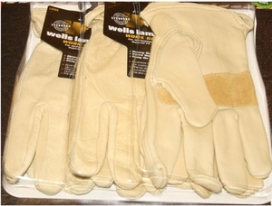Wells Lamont Premium Leather Work Gloves Precurved Design 3 Pack - Lar