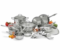 Wolfgang Puck Stainless Steel 18 pc. Cookware Set