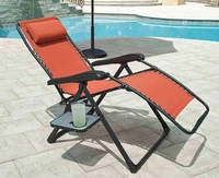 Zero Gravity Lounge Chair with Drink Holder - Orange
