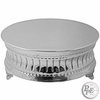"22"" Round Nickelplated Cake Plateau"