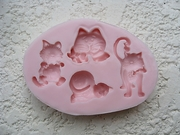 Cats Mold (NM-184) by Sunflower Sugar Art