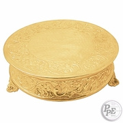 """Round 18"""" Gold plated Cake Plateau"""