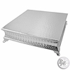 "Square 18"" Nickel plated Cake Plateau"