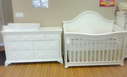 Cambridge crib and dresser set white or espresso