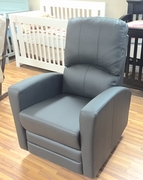 Dark grey leather glider/recliner