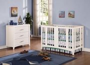 Elle modern crib and matching change table white only