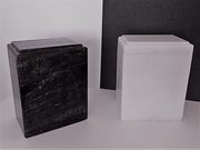 Black or White<br>Marble Niche Size<br> Cremation Urns<br> Sale  Price $129 Each<br>FREE SHIPPING