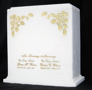 Gold Leaf Double Urn $369