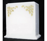 Double Companion White Marble Cremation Urn